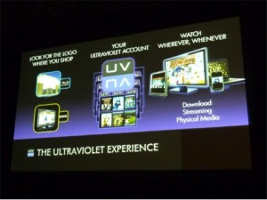 &quot;The UltraViolet Experience&quot; slide in a presentation