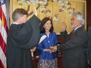 swearing in