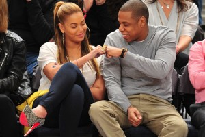 Jay-Z &amp; Beyonce @ Nets Game