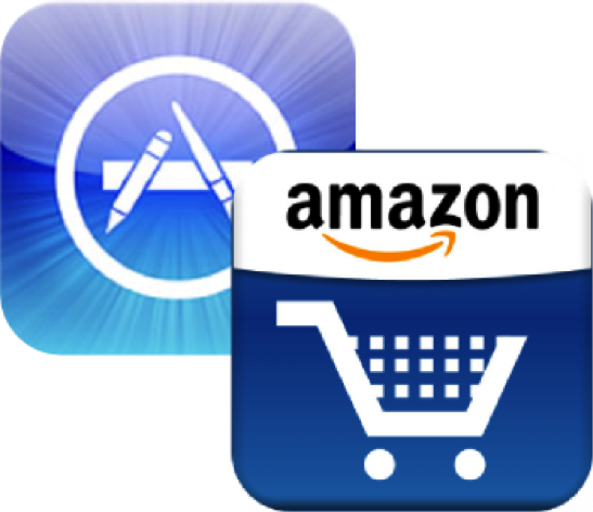 Apple App Logo and Amazon Logo